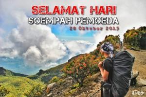 @rezafran 3m3 minutes ago Selamat hari sumpah pemuda untuk semua para pemuda indonesia 🙌 @PendakiJakarta @pendaki_id @pasagmerapi @kangen