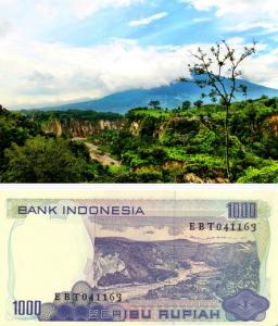 @LetsGonesia 11/02/2015 12:45:13 WIB Pada uang kertas Rp.1000 (1980) belum tertera informasi gambar, tebakan -min ini di Bukittinggi ♥ Sianok & Singgalang