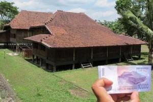 @LihatFoto Penampakan asli Rumah Limas yang ada di lembaran uang Rp 10.000