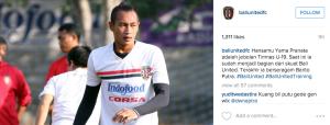 Hansamu Yama Pranata adalah jebolan Timnas U-19. Saat ini ia sudah menjadi bagian dari skuat Bali United. Terakhir ia berseragam Barito Putra.