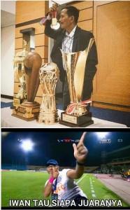 Iwan setiawan pun tau siapa yang jadi juaranya,, #TheLoserOne 😉😝😜,, selamat buat PS TNI hati hati @persib