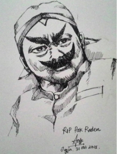 "asyf35""RIP Pak Raden"" seorang seniman yg berkarya hingga akhir hayatnya. Terimakasih pak raden atas inspirasinya. Selamat jalan...."