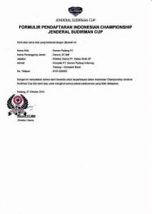 Semen Padang resmi mendaftarkan diri di Piala jenderal sudirman