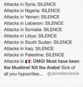 @bellaaazl 22m22 minutes ago I'm muslim. And I don't like how the world treat us. Where's the respect? #PrayForSyria