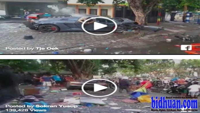 video mobil lamborghini hancur
