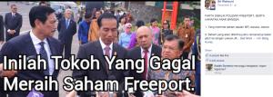 tokoh yang gagal meraih saham freeport