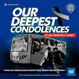 @WidaReio 7m7 minutes ago View translation Turut berduka cita untuk korban... #AremaBerduka