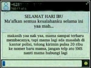 @jackinisme 22/12/2013 18:34:57 WIB Padahal sudah bela-belain ngucapin selamat hari ibu, tapi malah gini balesan :(