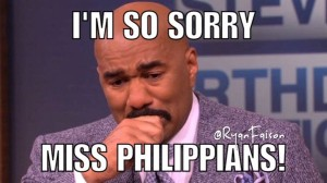 @RyanFaison 21/12/2015 10:45:47 WIB I'm sorry @IAmSteveHarvey! We love you! Everyone makes a mistake