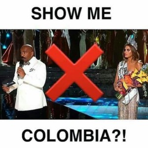 @dennispastorizo 21/12/2015 12:39:54 WIB What happened in #MissUniverse is messed up but this meme is hilarious #SteveHarvey #MissColombia LOL