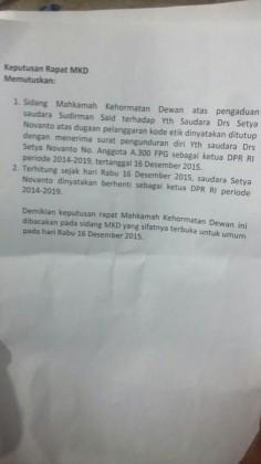 @MataNajwa: Surat keputusan pleno MKD.