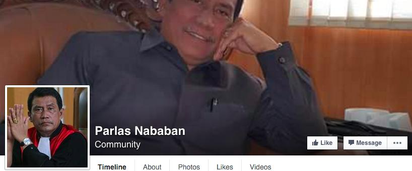 akun facebook parlas nababan