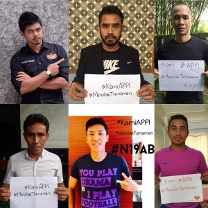 @APPI_info 6h6 hours ago @ponaryoastaman @bepe20 @KDY_10 @Firman_15_Utina @Bustomi_19 @bima11sakti #KamiAPPI #MenolakTurnamen #GameChangers