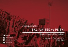 @BaliUtd 2h2 hours ago View translation Mari merahkan dipta ! Friendly match Bali United VS PS TNI, Jumat 5 februari 2016, pukul : 19.30 !
