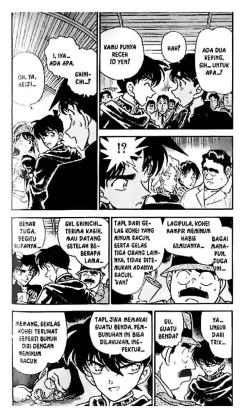 @kheyna11: Ini penjlasan yg ada dlm komik Detektif Conan,, coba d'cermati sj dulu. Mungkin bisa dijadikan sdkit referensi 😊