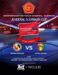 @jokowi 13h13 hours ago View translation Ayo nonton Final Piala Jenderal Sudirman di Stadion GBK antara Semen Padang VS Mitra Kukar. Tetap sportif! -Jkw