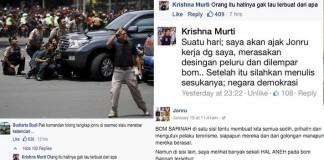 Sindiran Telak Untuk Jonru dari Kombes Krishna Murti terkait Bom Sarinah