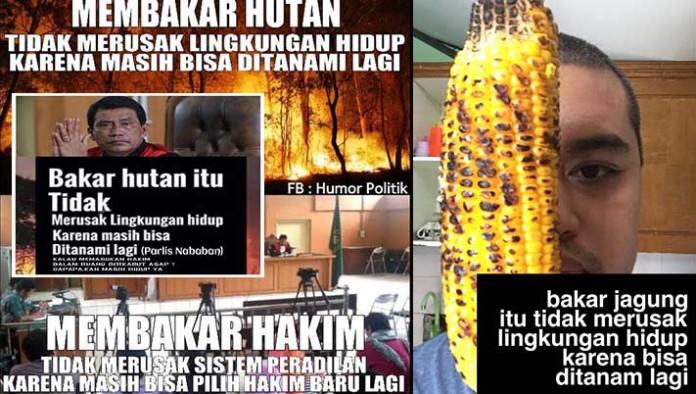 meme bakar hutan