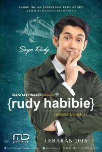@RudyHabibie_ Jan 30 View translation Final teaser poster dari Rudy Habibie (Habibie & Ainun 2) telah dirilis! Simak akting Reza Rahadian segera!