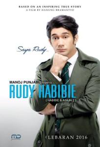 @RudyHabibie_ Jan 17 Manoj Punjabi presents... Rudy Habibie (Habibie & Ainun 2). Coming soon Lebaran 2016 #TeaserPoster