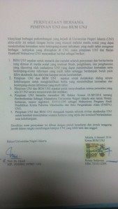 @Dakwah_Kampus 44m44 minutes ago Update: SK DO Ronny telah dicabut! Berikut surat pernyataan pihak kampus dan BEM UNJ. #SaveRonny #SaveUNJ