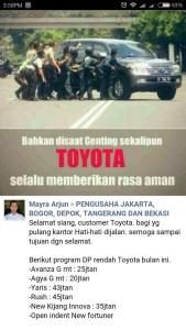 @tikabanget 16/01/2016 18:42:50 WIB Beb.. Iklan Toyota paling gress, beb.. 😄😄😄