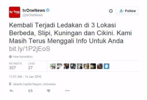 @ugenks 1h1 hour ago Cikampek, West Java Tv one kudu jd trending topic, awkward moment banget