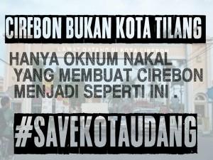 @Naufal_Hee7 03/02/2016 22:55:01 WIB Cirebon bukan kota tilang Hanya Oknum Nakal Yang membuat cirebon seperti ini #SaveKotaUdang