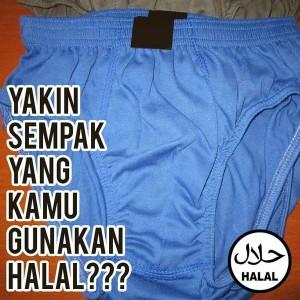 @RZIDN 04/02/2016 15:48:34 WIB Sdhkah anda memakai sempak yg halal pagi ini?