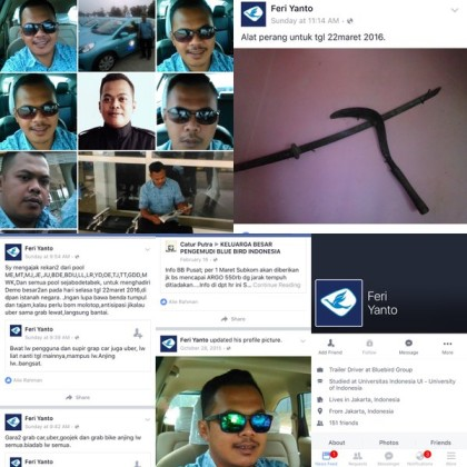 @DhulurSalatiga 22/03/2016 10:19:07 WIB . @Bluebirdgroup, Feri Yanto ini sopir Anda? Membuat ancaman & bawa senjata buat demo @TMCPoldaMetro @RadioElshinta