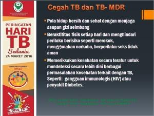 Stop TB di mulai dari diri sendiri dan keluarga