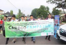 Kampanye Informasi Obat bertemakan hipertensi oleh mahasiswa Farmasi Universitas Jambi dan STIKES HI