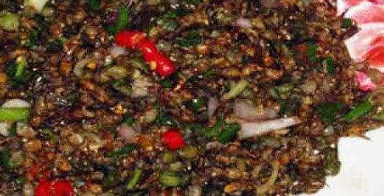 Makanan ekstrim thailand semut goreng