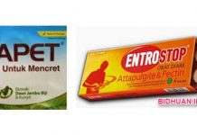 Entrostop atau Diapet sebagai Obat Anti Diare, mana yang lebih BAIK
