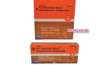 FG Troches Meiji Obat Antibiotik Hisap untuk Atasi Radang Tenggorokan dan Sariawan