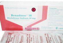 Renadinac (Diclofenac Sodium) Kegunaan, Efek Samping, Dosis dan Harga