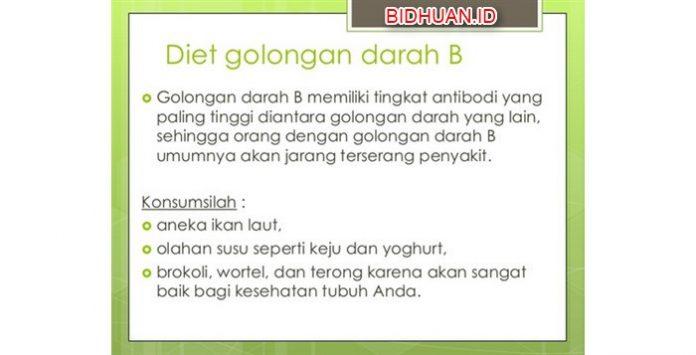 Diet Golongan Darah B - 23 Menu Makanan Harian Diet yang Boleh dan Tidak Dikonsumsi