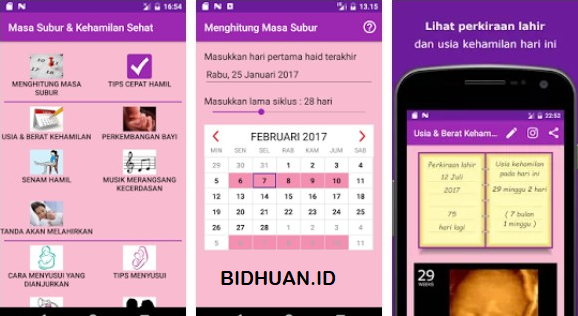 Aplikasi menghitung usia kehamilan
