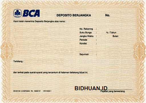 Cara menghitung bunga deposito bank BCA
