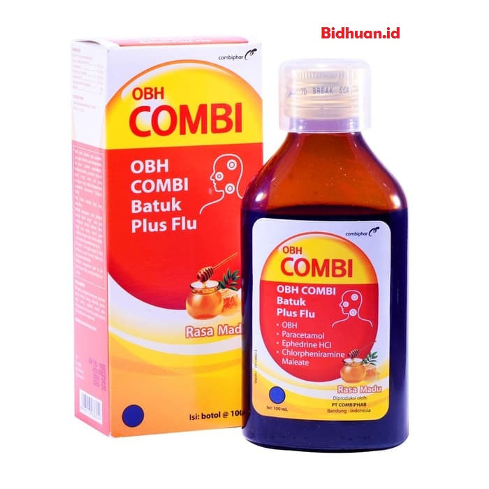 Obat flu dan batuk dengan OBH Combi batuk flu jahe