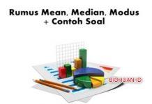 Rumus Mean Median Modus dan Contoh Soalnya