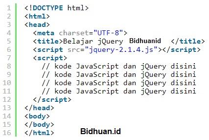 Cara Menjalankan Kode jQuery