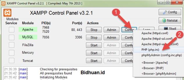 Setting PHP Via XAMPP