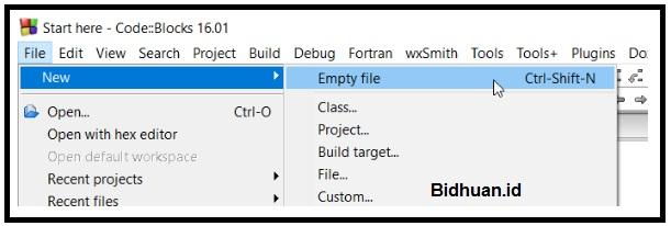 Tampilan Cara Membuat Lembar Kerja Baru di Code Block