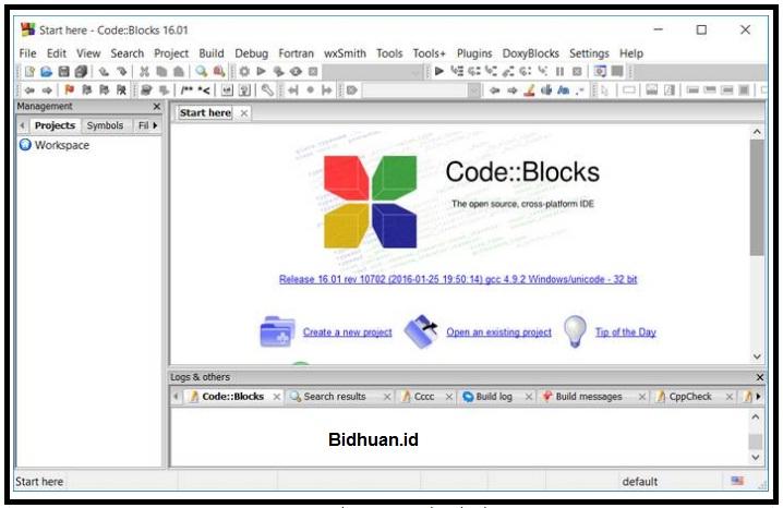 Tampilan IDE Code Block