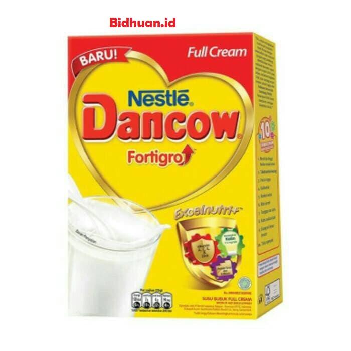 Susu penambah berat badan yaitu Dancow Fortigro Enriched Full Cream