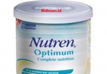 Susu penambah berat badan yaitu Nestle Nutren Optimum
