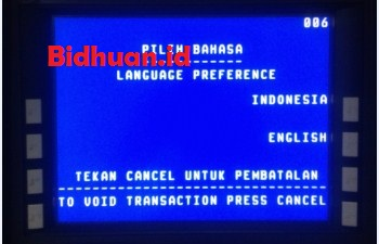 Langkah kedua yaitu dengan memasukkan ATM dan pilih bahasa