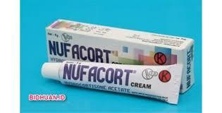 Obat luka bernanah di apotek yaitu Nufacort Cream