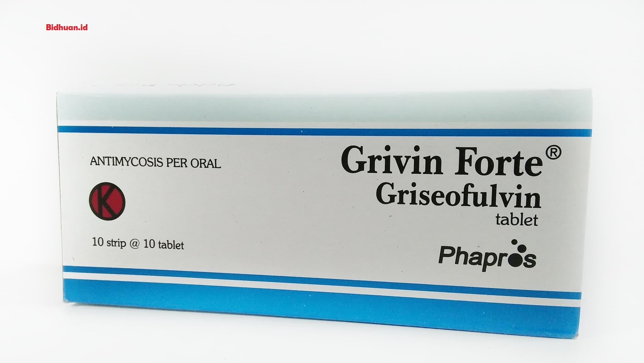 Obat panu di wajah dengan Grivin Forte